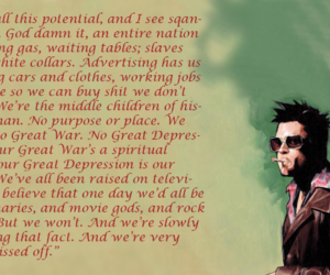 fight club, glory, and society image