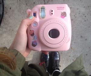 camera, pink, and grunge image