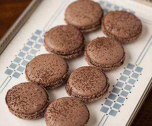 chocolate and macarons image