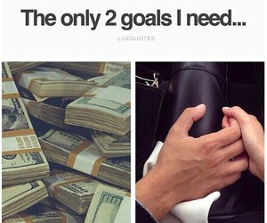 money, goals, and quote image