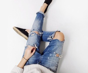 black, girl, and jeans image