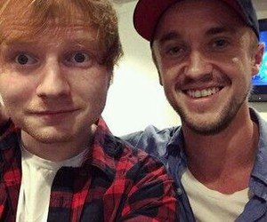 ed sheeran and tom felton image