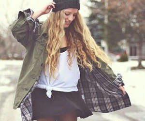 beanie, fashion, and girl image
