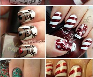 art, nail, and christmas image