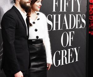 Jamie Dornan, christian grey, and dakota johnson image
