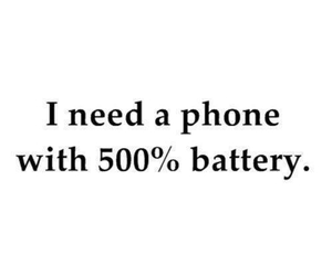 phone, battery, and quotes image