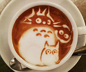 coffee, latte, and art image