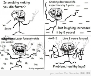 death, laughing, and fags image