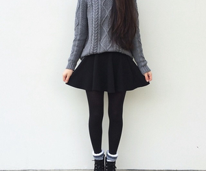outfit, clothes, and black image