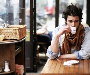 boy, coffee, and man image