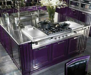 purple kitchen modern image