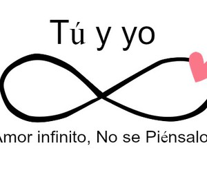 love, frases, and infinito image