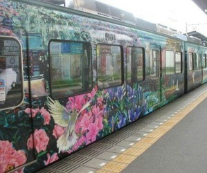 bright, bus, and floral image