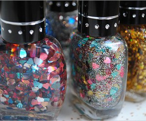 glitter, nail polish, and nails image