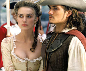 orlando bloom, keira knightley, and will turner image