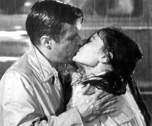 kiss, audrey hepburn, and Breakfast at Tiffany's image