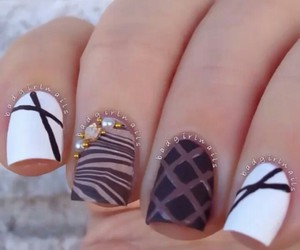 brown, nails, and white image