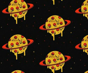 pizza, wallpaper, and planet image