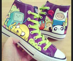adventure time, converse, and shoes image