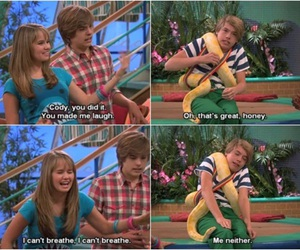debby ryan, cole sprouse, and the suite life on deck image
