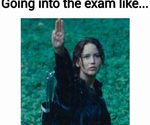 exam, funny, and hunger games image