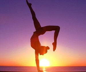 sunset, fitness, and summer image