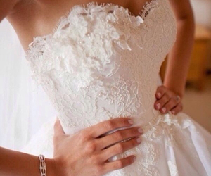 beautiful, bride, and cleavage image