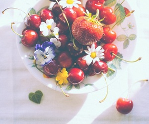 food, cherry, and healthy image