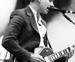 alex turner, arctic monkeys, and black and white image
