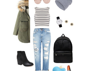accessories, backpack, and beanie image
