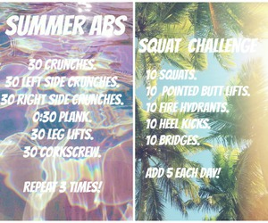 summer body, abs workout, and body goals image