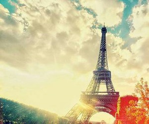 tour eiffel and vintage image