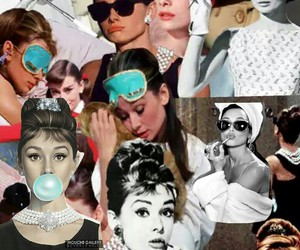 audrey, Collage, and hepburn image