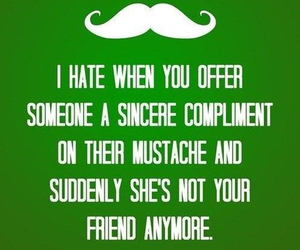 funny, mustache, and lol image