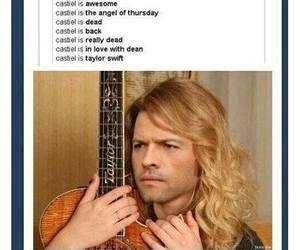 supernatural, castiel, and Taylor Swift image