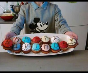 birthday, colors, and cupcake image
