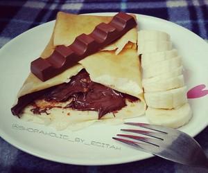 chocolate, crepe, and food image