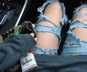 grunge, jeans, and marlboro image
