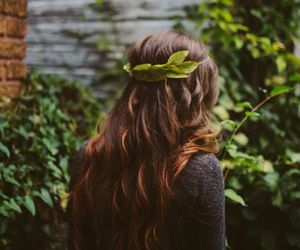 hair, nature, and green image