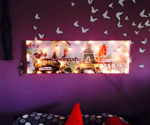 butterfly, paris, and decor image