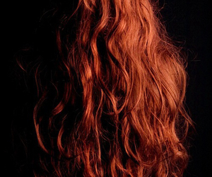 redhead, hair, and long image