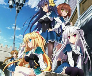 anime, twintails, and absolute duo image