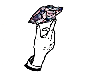 aesthetic, art, and crystal image