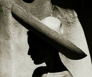 girl, hat, and shilouette image