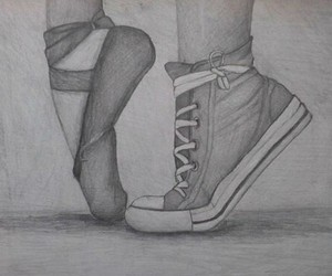balett, drawings, and shoes image