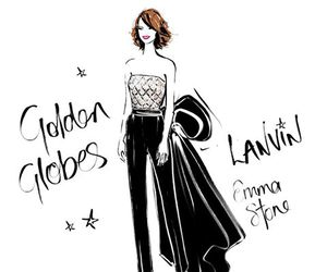 emma stone, fashion, and illustration image