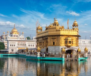 india, golden temple amritsar, and spiritual traveling image