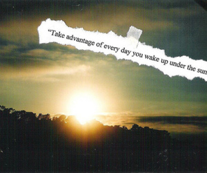 quote, sun, and text image