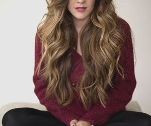 hair, long hair, and sweater image