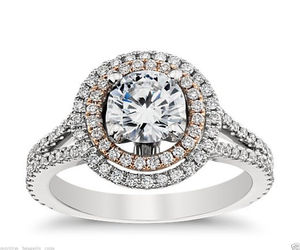 beautiful, white gold, and engagement ring image